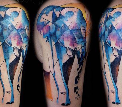 Большой и мудрый: значение татуировки в виде слона
