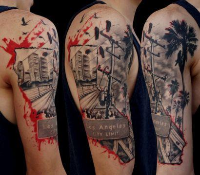 Татуировки в стиле треш-полька: отличительные черты