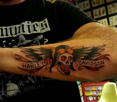 Байкерские татуировки и их значение