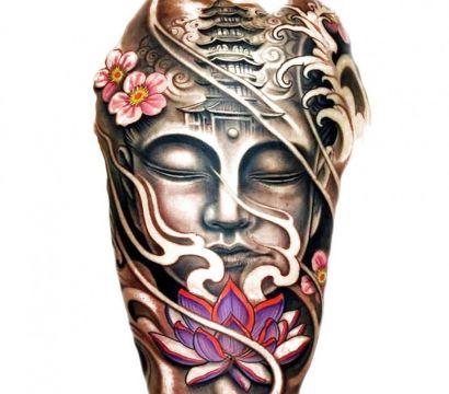 Религия или философия: татуировка в виде Будды
